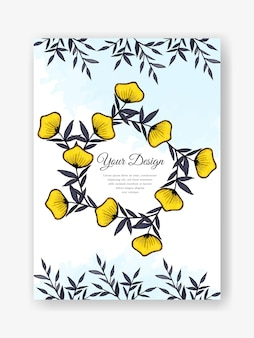 Красивое акварельное свадебное приглашение с цветочным дизайном