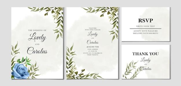 Красивое акварельное свадебное приглашение