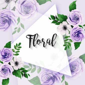 結婚式の招待状のグリーティングカードのための美しい水彩画のフラワーアレンジメント多目的フレーム