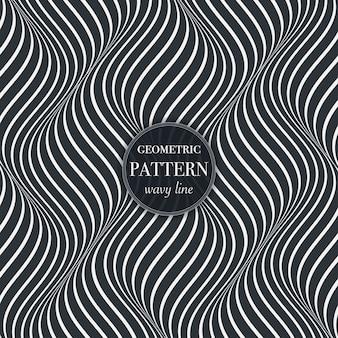 아름 다운 흔들며 선 추상 패턴 배경
