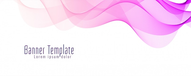 Beautiful wavy banner template