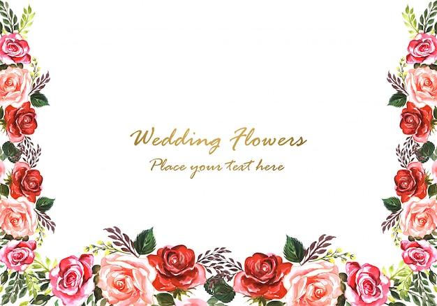 美しい結婚記念日装飾花のフレーム
