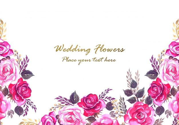 Beautiful wedding anniversary decorative floral frame