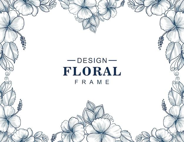 美しいウェディングカードの花のフレーム