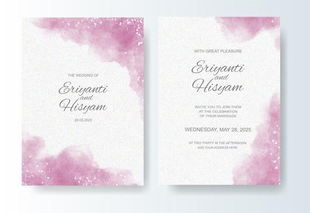 Красивая свадебная открытка акварельный фон с всплеском