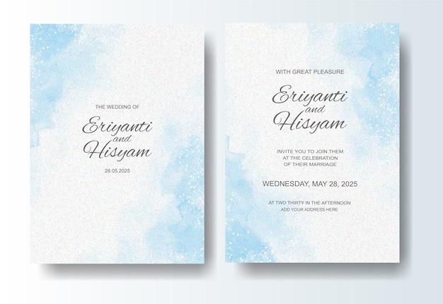 스플래시와 아름 다운 웨딩 카드 수채화 배경