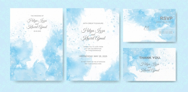 Beautiful wedding card watercolor background