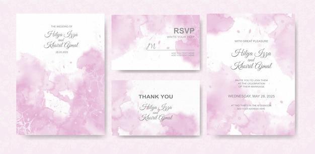 Beautiful wedding card watercolor background