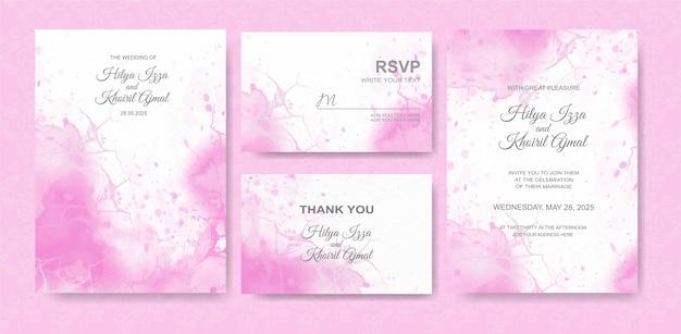아름다운 웨딩 카드 수채화 배경