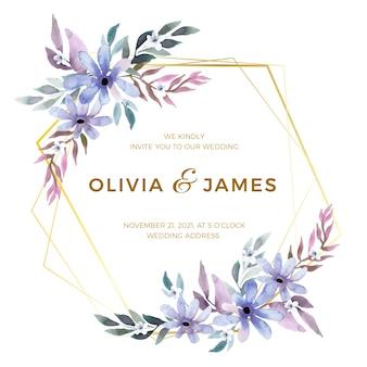 美しい結婚式の花のフレーム