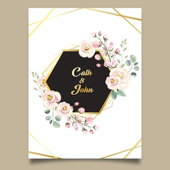 Beautiful wedding floral frame