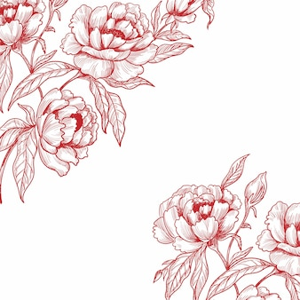 Beautiful wedding floral sketch background