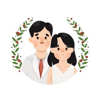 아름다운 결혼식 그림