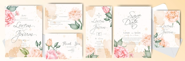Beautiful wedding invitation card collection
