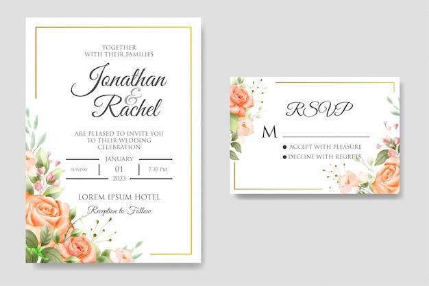 Beautiful wedding invitation card design template