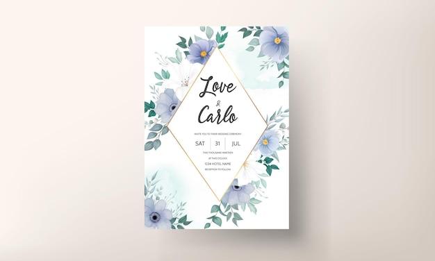 Beautiful wedding invitation card floral ornament