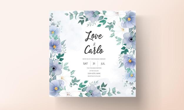 Bello ornamento floreale della carta dell'invito di nozze