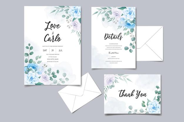 美しい結婚式の招待カード花飾り