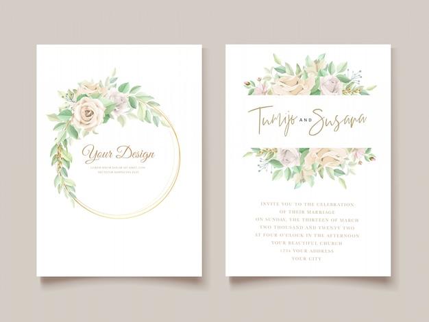 美しい結婚式の招待カードセット