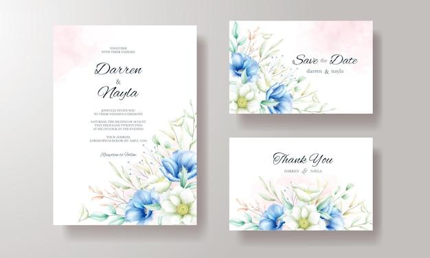 아름다운 결혼식 초대 카드 템플릿 디자인