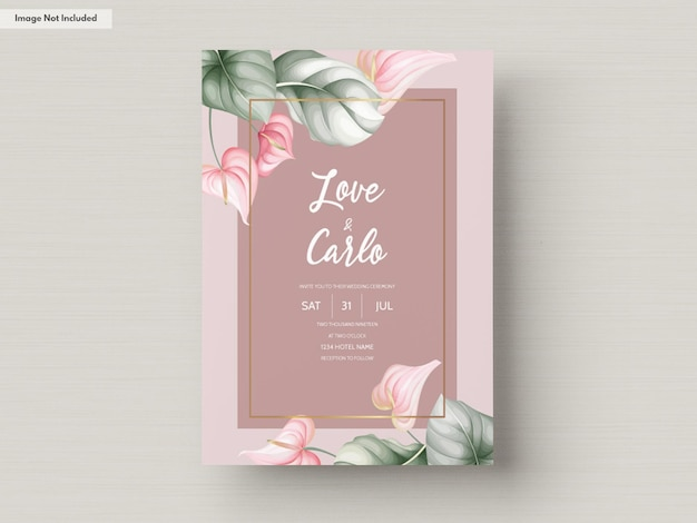 Modello di carta di invito matrimonio bellissimo
