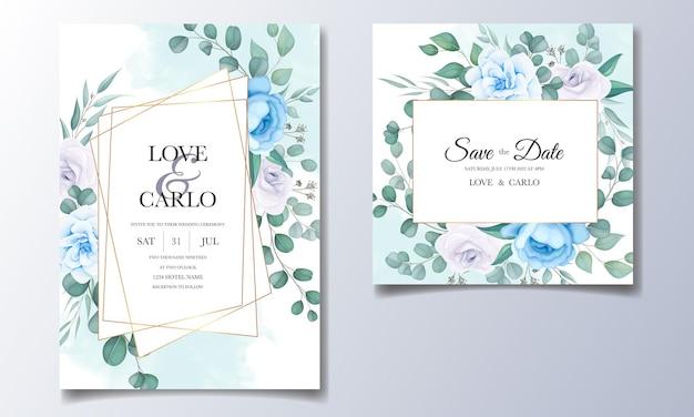 Carta di invito matrimonio bellissimo con decorazioni floreali