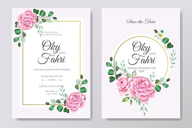 Beautiful wedding invitation card