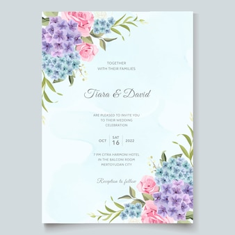 美しい結婚式の招待状の庭の花