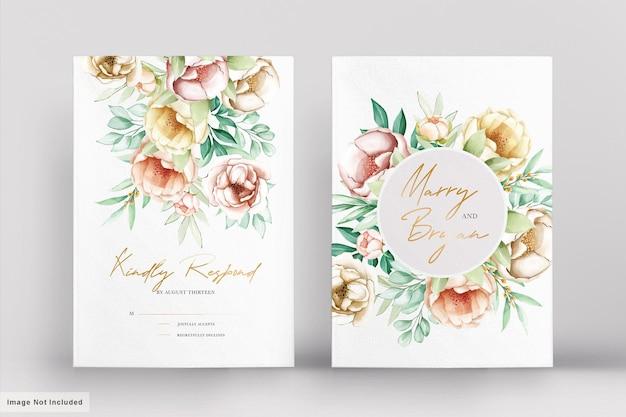 Красивые свадебные приглашения с акварельными цветами