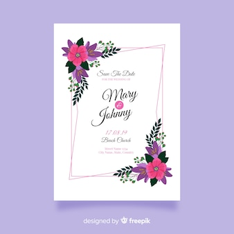 Beautiful wedding invitation template