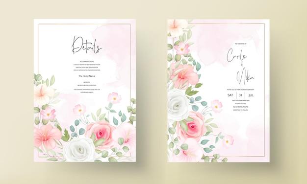 Bellissimo invito a nozze con bellissimi fiori