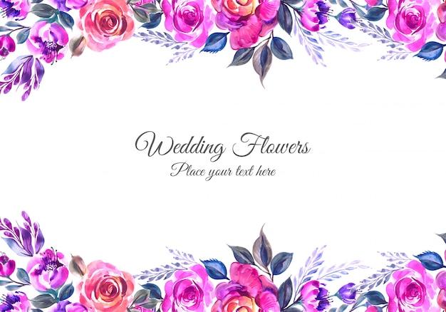 Beautiful wedding invitation with flowers