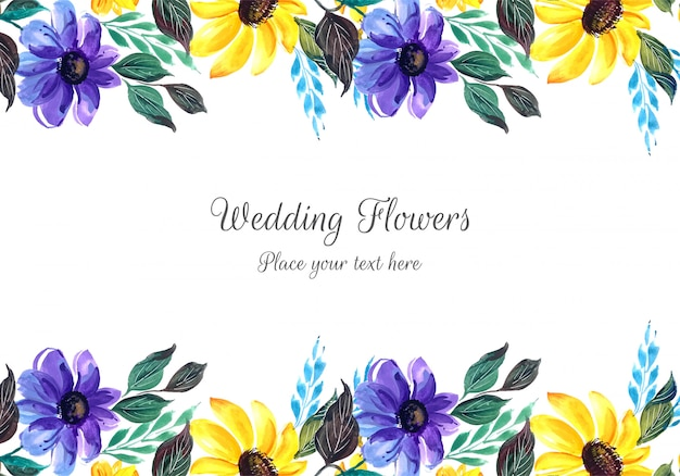 Beautiful wedding invitation with flowers
