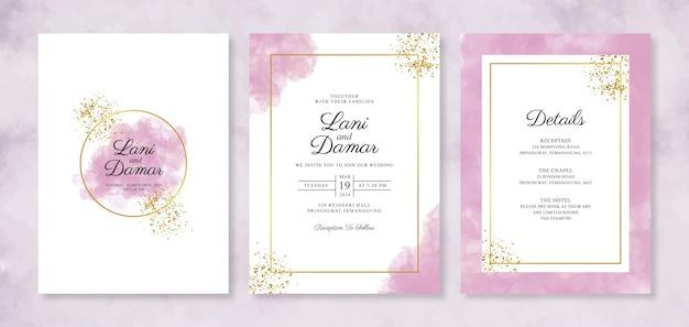 水彩スプラッシュと美しい結婚式の招待状