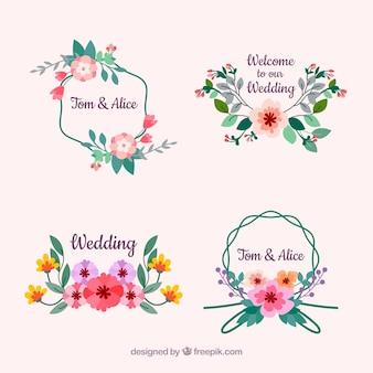 Bellissimo set di etichette di matrimonio