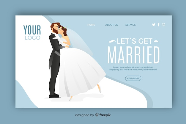 Beautiful wedding landing page