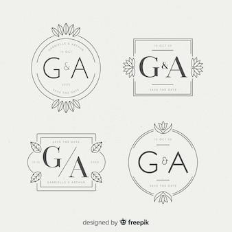 Beautiful wedding monogram logos