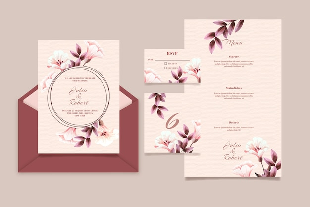 Beautiful wedding stationery set