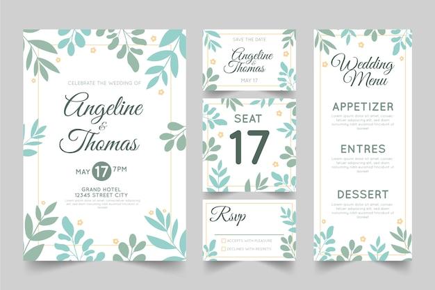 Beautiful wedding stationery template