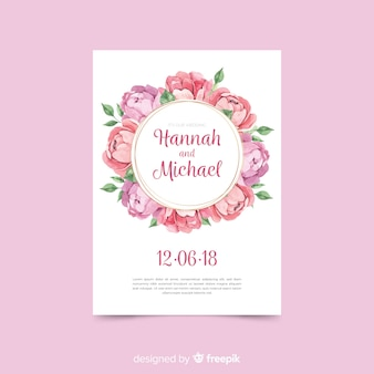 Beautiful wedding template in art deco design