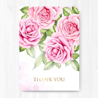 Beautiful wedding thank you invitation card