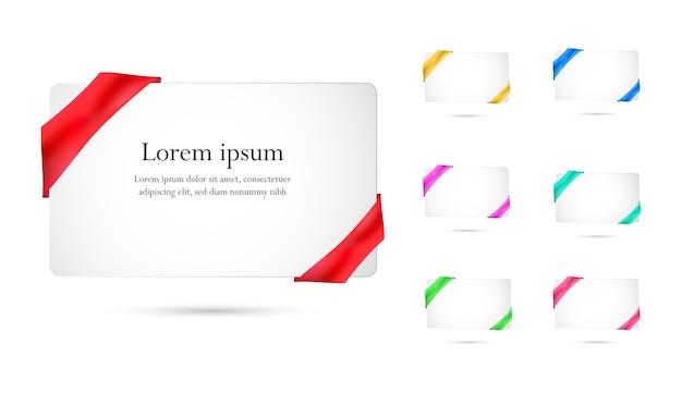 새틴 나비와 함께 아름 다운 하얀 축제 선물 카드.