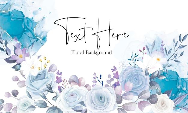 美しい白い花の背景デザイン