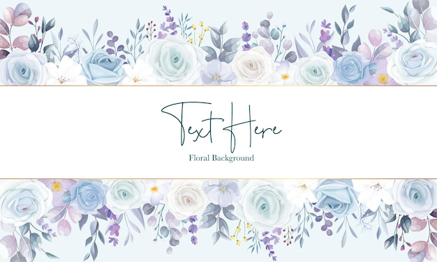 Beautiful white floral background design
