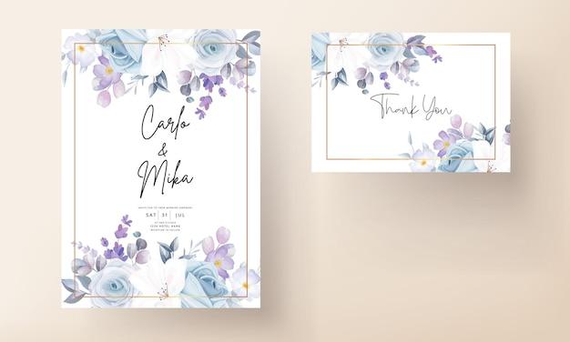 Красивый белый цветочный шаблон свадебной открытки