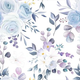 Beautiful white seamless pattern design