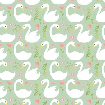 Beautiful white swan pattern