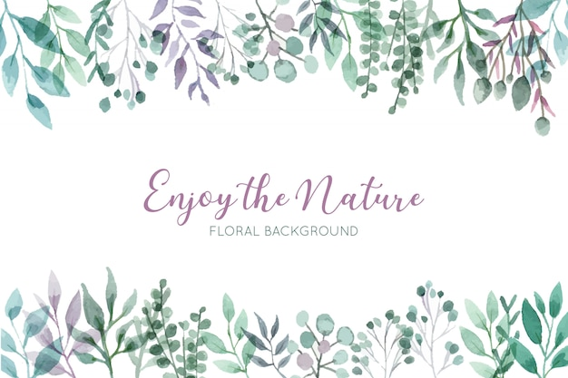 Beautiful wild floral background