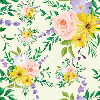 Красивый дикий цветок бесшовные модели дизайна