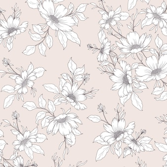Beautiful wild flowers bunch pattern